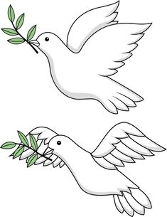 """Buy the royalty-free Stock vector """"Dove of peace"""" online ✓ All rights included ✓ High resolution vector file for print, web & Social Media Bird Line Drawing, Bird Drawings, Animal Drawings, Easy Drawings, Dove Bird, Peace Dove, Cross Art, Embroidery Monogram, White Doves"""