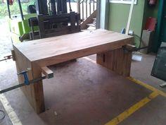Fabricando mesa de madera recuperada