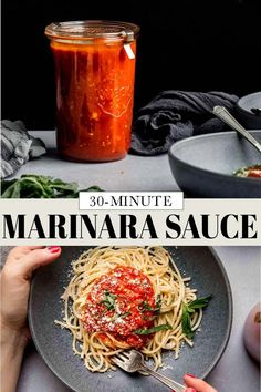 This Marinara Sauce offers rich and sweet flavors that can be enjoyed on plenty of dishes. Using basic ingredients & only 1 pot. // homemade easy // recipe // best // how to make Zucchini Lasagna Rolls, Zucchini Fries, What Is Marinara Sauce, Most Pinned Recipes, Toasted Ravioli, Crispy Baked Chicken, Easy Meals, Homemade Marinara, Popular Recipes