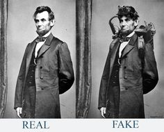 Abraham Lincoln, fake paranormal investigator pic :( Wish it had been real :)