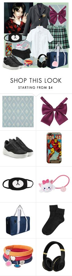 """Jungkook school uniforms"" by cristinamariaalvarezramirez ❤ liked on Polyvore featuring Cole & Son, Filling Pieces, Marvel Comics, Marc Jacobs and Club Manhattan"