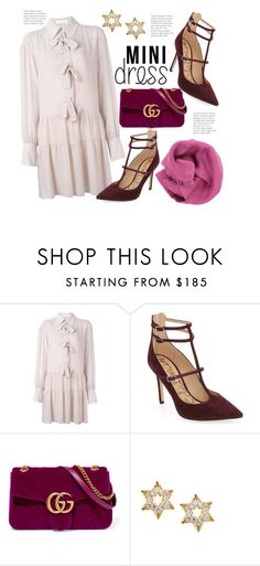 """""""Pretty in Pink"""" by hattie4palmerstone ❤ liked on Polyvore featuring See by Chloé, Sam Edelman, Gucci, Lana and Bajra"""