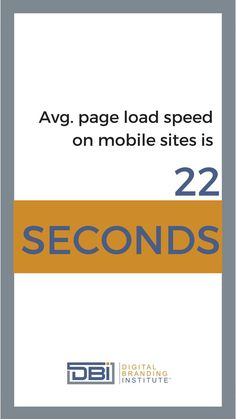 Average page load speed on mobile sites is 22 seconds. Email Marketing, Content Marketing, Social Media Marketing, Business Goals, Business Tips, Branding Strategies, Search Optimization, Google Analytics, Education And Training