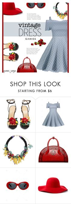"""""""So Dotty: Polka Dots"""" by goreti ❤ liked on Polyvore featuring Charlotte Olympia, La Hormiga and Scala"""