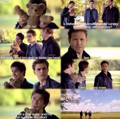 Damon and Stefan and Aleric