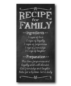 Look at this #zulilyfind! 'Family Recipe' Wrapped Canvas by COURTSIDE MARKET #zulilyfinds