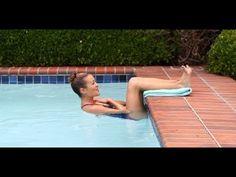 Ejercicios para gluteos y piernas en el agua con flota flota. Aquagym - YouTube