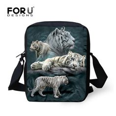 Cool 3D Denim Animal Printed Travel Crossbody Bag
