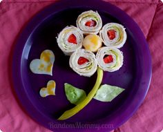 flower snack idea - Great for the kiddos or for Mom on Mother's Day! #SargentoUltraThin
