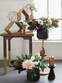 Refined Copper And Black Wedding Decor Ideas - Inspired4U