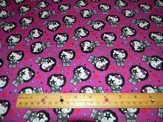 Hello Kitty KISS Rock Star on Purple by by Loriscountryfabrics, $8.50