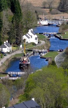 Crinan Canal, Argyll and Bute, Scotland