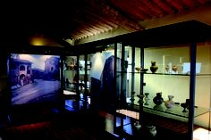 A room of Poggio Civitate Antiquarium and Archeological Museum in Murlo.