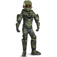 These Halo Master Chief Halloween costumes let you bring this well-loved video game character to life! You'll love being Master Chief for Halloween, special events, fundraisers and cosplay. Master Chief Halloween, Master Chief Costume, Scary Costumes, Boy Costumes, Halloween Costumes For Kids, Costume Ideas, Halloween Decorations, Halo Halloween, Halloween Fancy Dress