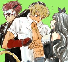 Blake Belladonna, Adam, and Sun. I think Sun is about to get an interesting lecture from Adam.