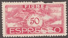 Fiume 1920 Scott E3 Special  Delivery  50c rose