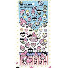 Sanrio My Melody x Okada Momo sticker sheet