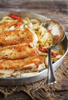 Chicken with Artichoke and Sun-Dried Tomatoes