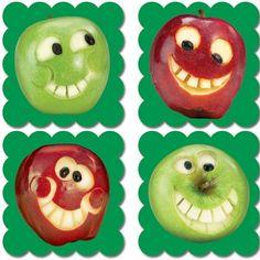 Pegatinas de incentivo con imágenes reales y olor a manzana.