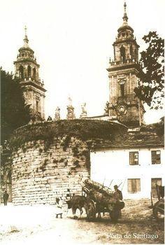 Porta de Santiago. Lugo antigo.
