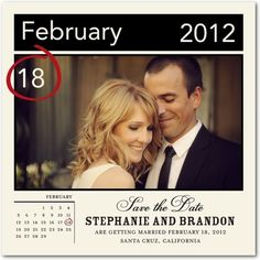 Save the date! I like how it looks like a calendar. So this is my birthday and my first name!!