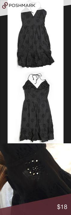 Black dress size 7 zipper