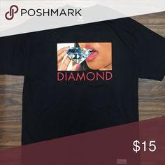 Diamond supply Co eating tee Diamond tee with a girl eating a diamond Diamond Supply Co. Shirts Tees - Short Sleeve