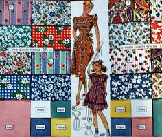 What were the common colors, fabrics and prints worn in the 1940s? 1940s Fabric identification by swatches.