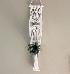 Your place to buy and sell all things handmade Wall Plant Holder, Macrame Plant Holder, Plant Holders, Indoor Plant Hangers, Hanging Plant Wall, Mini Plants, Macrame Projects, Macrame Patterns, Oeuvre D'art