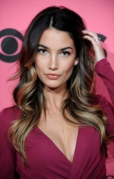 Lily Aldridge- the highlights -- guess we're both going longer and easier, darker color at the roots...