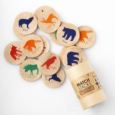 Match Stacks Woodland Animals