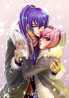 I'll keep you warm Luka.. by ~Ebiko-chan on deviantART - Gakupo x Luka fanart