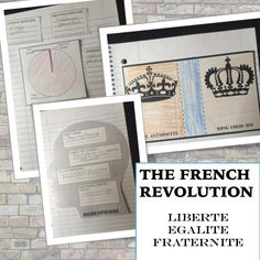 Interactive notebook pages for the French Revolution help students organize notes and gain perspective on the values of the revolution.