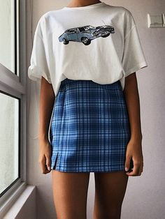 fashion vintage outfits falda pin by lulusimonstudio on fashion in 2019 brandy melville outfits outfits aesthetic clothes p wintergrunge Retro Outfits, Teen Fashion Outfits, Mode Outfits, Cute Casual Outfits, Outfits For Teens, Girl Outfits, Fashion Clothes, 90s Clothes, Vintage Summer Outfits