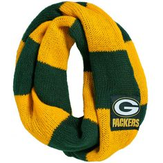 Green Bay Packers Color-Blocked Infinity Scarf at the Packers Pro Shop http://www.packersproshop.com/sku/4306163031/