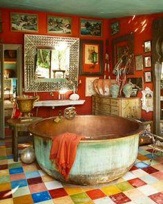 Bohemian Bathroom || Colour/Boho/Gypsy/Chill