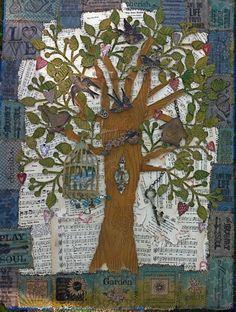 Tree Art Collage on Canvas