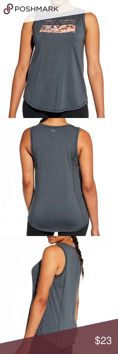 Calia by Carrie Underwood Flow Graphic Tank New with Tags  Size Small Color is Graphite Push yourself toward success when you wear the CALIA™ by Carrie Underwood Women's Flow Graphic Muscle Tank Top. Signature Calite fabric gives you a luxuriously soft feel that transitions easily from workout to weekend, while moisture-wicking and antimicrobial technologies offer functional freshness. A crewneck lends athletic coverage, and a bold front graphic adds inspirational style. Motivate yourself…