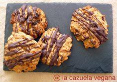 La Cazuela Vegana | Alimentación 100% vegetal y saludable: Galletas de avena, pasas y nueces