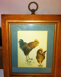Vintage Fowl Kitchen Art SET OF 3 by Sfuso on Etsy