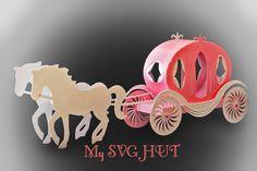 A princess Carriage for a little princess :) A very elegant and pretty carriage. Princess Theme, Baby Shower Princess, Little Princess, Toy Craft, Craft Gifts, Cute Crafts, Crafts For Kids, Princess Carriage, Paper Umbrellas
