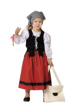 Disfraz de campesina #medieval para niña