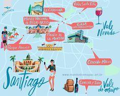 City Guide (Tam), Santiago do Chile, America City, South America Travel, Cities, Travel Set, Travel Books, Travel Ideas, Country Maps, Worldwide Travel, Paris