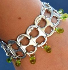 Bracelet from can pop tops