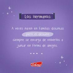 Por los #Amigos que se convierten en #Familia :D que tengas un excelente inicio de semana. #FraseDelDía #Frases #Calzado #Coloso
