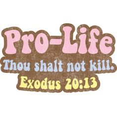 Thou shalt not kill: Innocent human life vs. Guilty human life.  Exodus 20:13