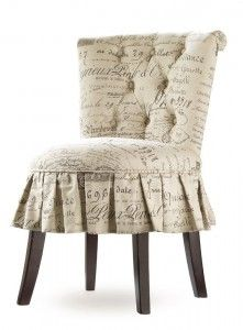 Shop for Hooker Furniture Melange Fifi Vanity Chair, and other Living Room Chairs at Swanns Furniture and Design in Tyler, TX. Unabashedly feminine, the Fifi is all ruffles, accentuated by a tufted back on the Lacefield Document Fossil Fabric. Tufted Chair, Upholstered Furniture, Bedroom Furniture, Furniture Chairs, Room Chairs, Dining Chairs, Dressing Table With Chair, Furniture Catalog, Hooker Furniture