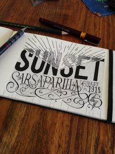 Sunset Sarsaparilla. Inkpen