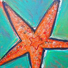#Starfish painted by Ann Lutz