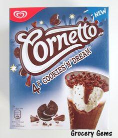 Grocery Gems: Review: Cornetto Cookies 'n' Dream Ice Cream Cones
